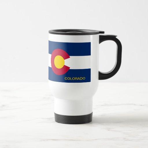 Bandera del estado de Colorado Taza De Viaje De Acero Inoxidable