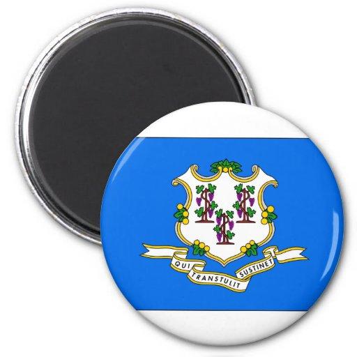 Bandera del estado de Connecticut Iman De Frigorífico