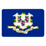 Bandera del estado de Connecticut Imanes Rectangulares
