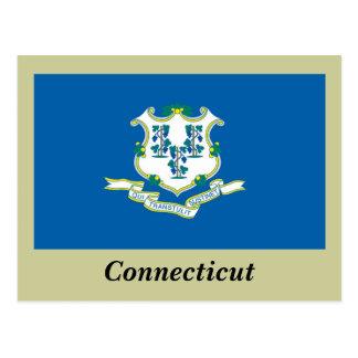 Bandera del estado de Connecticut Tarjeta Postal