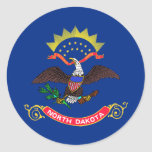 Bandera del estado de Dakota del Norte Pegatina