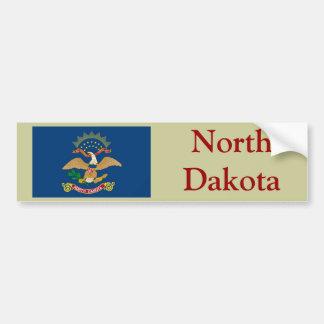 Bandera del estado de Dakota del Norte Pegatina Para Auto