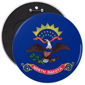 Bandera del estado de Dakota del Norte Pin Redondo De 6 Pulgadas