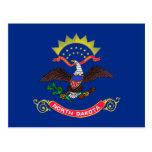 Bandera del estado de Dakota del Norte Postal