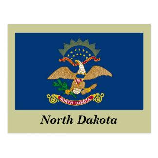 Bandera del estado de Dakota del Norte Postales