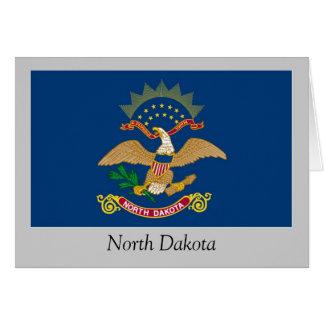 Bandera del estado de Dakota del Norte Tarjeta De Felicitación