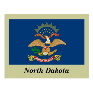 Bandera del estado de Dakota del Norte Tarjeta Postal