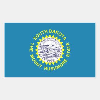 Bandera del estado de Dakota del Sur, Estados Pegatina Rectangular