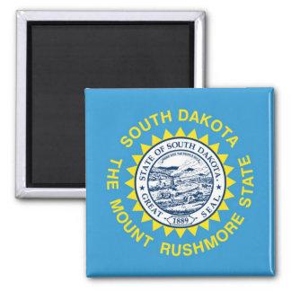 Bandera del estado de Dakota del Sur Imanes De Nevera