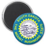 Bandera del estado de Dakota del Sur Imán Redondo 5 Cm