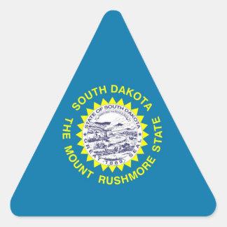 Bandera del estado de Dakota del Sur Pegatina Triangular