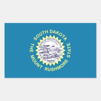 Bandera del estado de Dakota del Sur Pegatina Rectangular