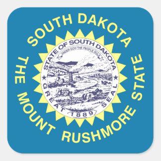 Bandera del estado de Dakota del Sur Pegatina Cuadrada