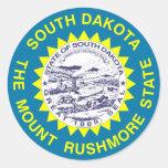 Bandera del estado de Dakota del Sur Pegatinas Redondas