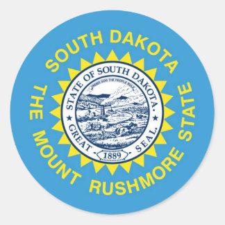 Bandera del estado de Dakota del Sur Pegatina Redonda