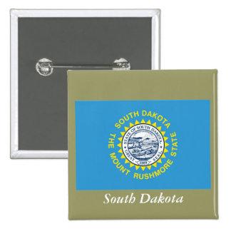 Bandera del estado de Dakota del Sur Pins