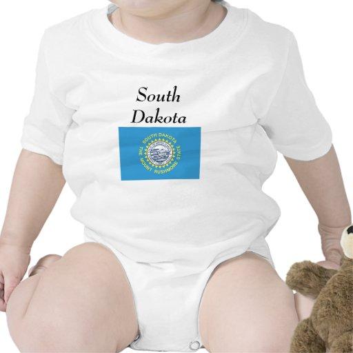 Bandera del estado de Dakota del Sur Trajes De Bebé