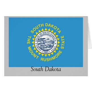 Bandera del estado de Dakota del Sur Tarjeta De Felicitación