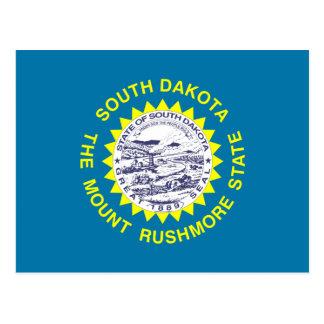 Bandera del estado de Dakota del Sur Tarjeta Postal