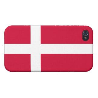 Bandera del estado de Dinamarca iPhone 4/4S Carcasas