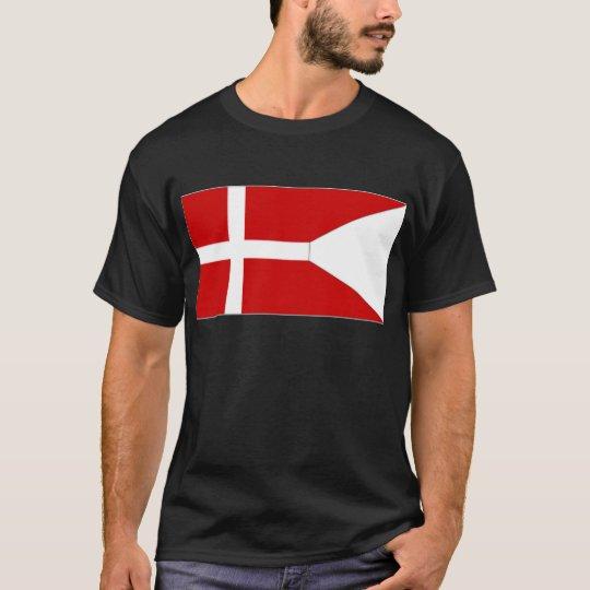Bandera del estado de Dinamarca Playera