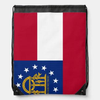 Bandera del estado de Georgia Mochila