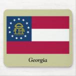 Bandera del estado de Georgia Tapetes De Ratón