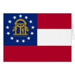 Bandera del estado de Georgia Tarjetas