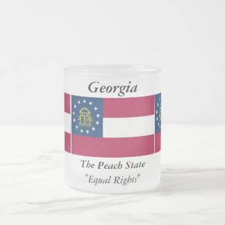 Bandera del estado de Georgia Taza De Cristal