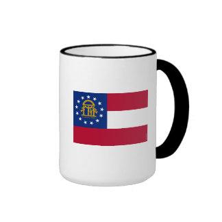Bandera del estado de Georgia Taza De Dos Colores
