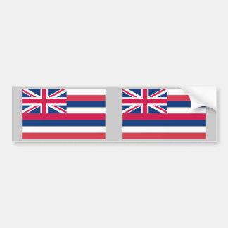 Bandera del estado de Hawaii Pegatina De Parachoque