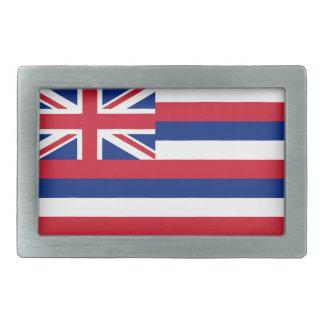 Bandera del estado de Hawaii Hebillas De Cinturón Rectangulares