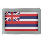 Bandera del estado de Hawaii Hebillas Cinturón Rectangulares