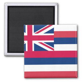 Bandera del estado de Hawaii Imán Cuadrado
