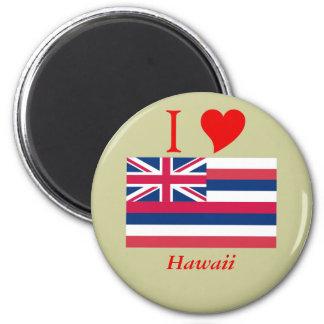 Bandera del estado de Hawaii Imán Redondo 5 Cm