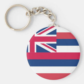 Bandera del estado de Hawaii Llavero Redondo Tipo Pin