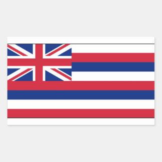 Bandera del estado de Hawaii Pegatina Rectangular