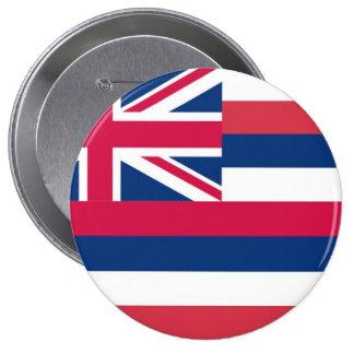 Bandera del estado de Hawaii Pin Redondo De 4 Pulgadas