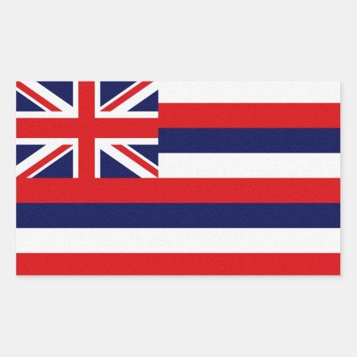Bandera del estado de Hawaii Rectangular Pegatinas