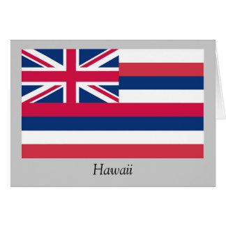 Bandera del estado de Hawaii Tarjeta De Felicitación
