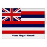 Bandera del estado de Hawaii Tarjetas