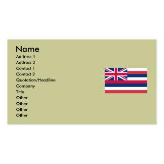 Bandera del estado de Hawaii Tarjetas De Visita