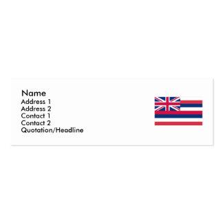 Bandera del estado de Hawaii Tarjetas De Visita Mini