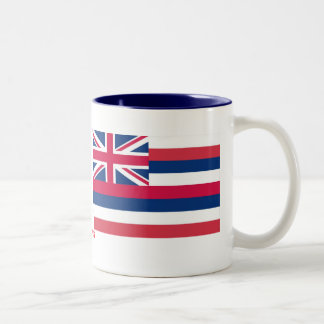 Bandera del estado de Hawaii Taza De Dos Tonos