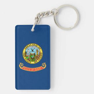 Bandera del estado de Idaho Llavero Rectangular Acrílico A Doble Cara