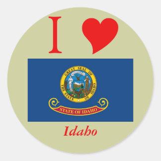Bandera del estado de Idaho Etiqueta Redonda