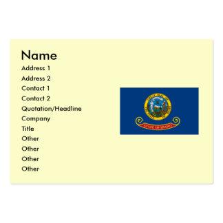 Bandera del estado de Idaho Tarjetas De Visita Grandes