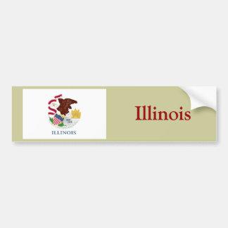 Bandera del estado de Illinois Pegatina Para Auto