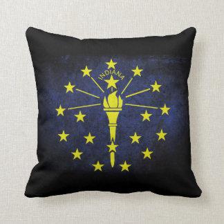 Bandera del estado de Indiana Cojín Decorativo