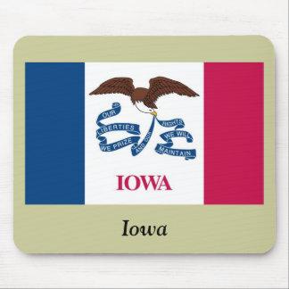 Bandera del estado de Iowa Alfombrillas De Ratón